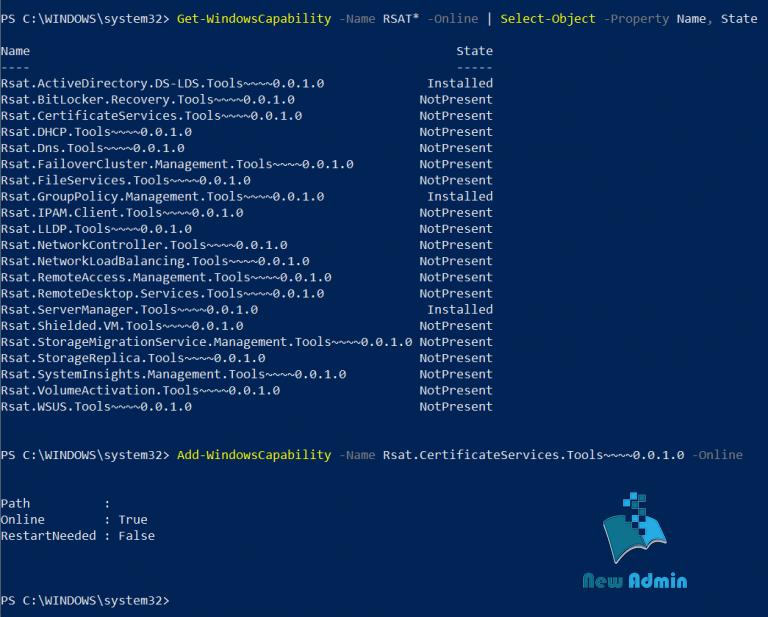 Get-WindowsCapability