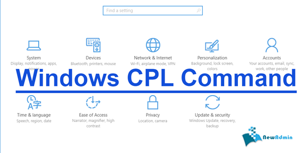 windows CPL Command